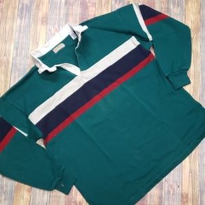 L L. BEAN VINTAGE MADE IN USA RUGBY POLO SIZE XL